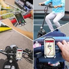 Держатель для телефона на велосипед Bosodasan Силиконовый Черный (bsdn-1)