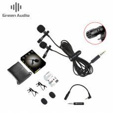 Двойной петличный микрофон Green Audio GAM-16D для ПК/Смартфона/Камеры/Ноутбука