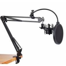 Стойка-пантограф для микрофона Green Audio GAZ-34 с пауком и поп-фильтром