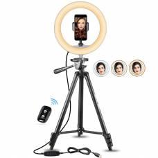 Кольцевая лампа LED 26 см со штативом и с держателем для телефона для селфи и блоггеров 4sport
