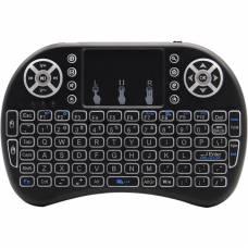 Беспроводная клавиатура с тачпадом 4Sport Rii Mini i8 LED 2.4G RUS/ENG Black (RMI8LRB)
