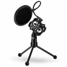 Микрофонная стойка с поп-фильтром Soncm PS-2 Black