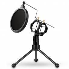 Микрофонная стойка с поп-фильтром Soncm PS-3 Black