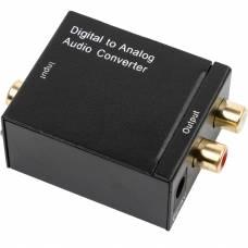 Цифро-аналоговый аудио конвертер 4Sport Toslink - RCA Black (WAZ-DA1-B)