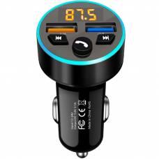 FM-трансмиттер 4Sport WAZ-FT4 Bluetooth 5.0 / RGB Black (WAZ-FT4-BK)