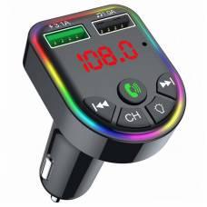 FM-трансмиттер 4Sport WAZ-FT5 Bluetooth 5.0 / microSD / RGB Black (WAZ-FT5-BK)