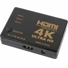 Активный HDMI переключатель 4Sport Switcher 3 to 1 Black (WAZ-HS31-B)