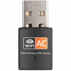 Двухдиапазонный Wi-Fi адаптер 4Sport AC600 2.4/5GHz Black (WAZ-RTL8811-B)