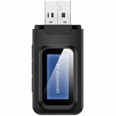 Адаптер Bluetooth 5.0 с дисплеем 4Sport 2-in-1 ZF-BT819 Black
